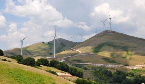 Costruzione Campo Eolico San Gregorio Magno  <BR/>(2007-2009)