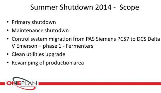 Novartis Vaccines -  Summer and Winter Shutdown <BR/>(2014)